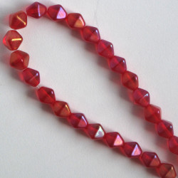 BC1355 - 6 mm Czechs Glass Bicone, Luster, Ruby Iris, Approx. 50 per Strand.