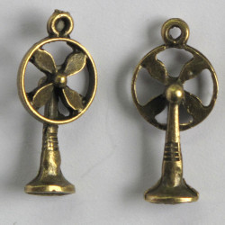 F8615 - Decorative Table Top Fan Charm in a Steam Punk Style.