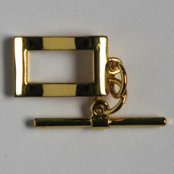 F4052g - Stylish, Rectangular, Wavey Toggle, Gold Coloured.