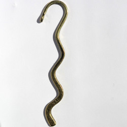 F4801 - Wavy Bookmark with Loop, Antique Brass Coloured, Pack of 1.