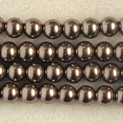 PL0830 - 8mm Glass Pearls, Coffee Coloured.