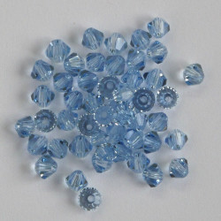 CR4408 - 4mm Crystal Bicone, Light Saphire, Pack of 50.
