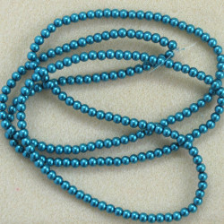PL0443 - Long Strand Turquoise Blue. 4mm Pearls.