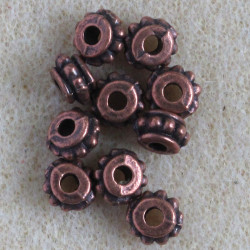 F4150c - Small Barrel Shaped Beads, Pack of 10.