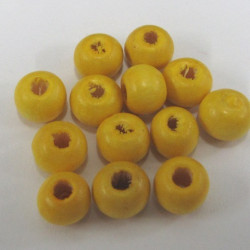 WB2340 - Yellow wooden beads, pack of approx 100