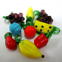 GB1749 - Glass fruit mix. Pack of 10 pieces.