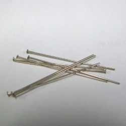Sterling silver headpins. Pk of 10
