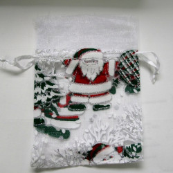 Christmas organza bags. Pack of 2
