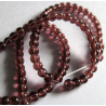 Aubergine colour 3mm glass beads