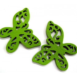 Green wooden butterfly pendants