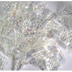 Clear AB acrylic wing beads