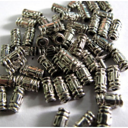 500 useful silver colour tube beads