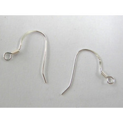 Small sterling silver earwires