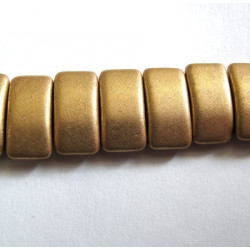 Pale gold carrier beads, string of 15