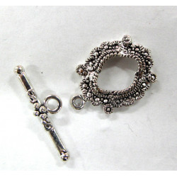 Fancy oval toggle clasp. Pack of 5