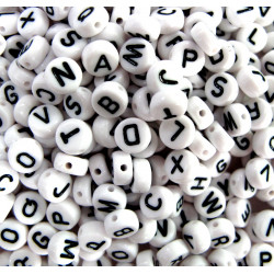 Alphabet beads, pack of 500 mixed