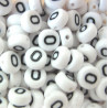 "Alphabet beads, pack of 100  ""O""s"