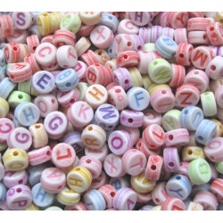 Multi colour alphabet beads, pack of 200
