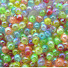 Bubble beads. Pack of 100 mixed 5mm