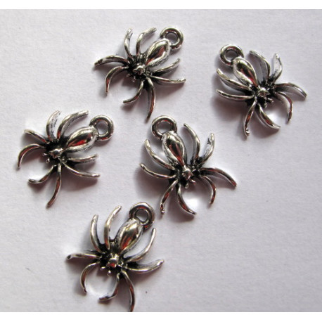 Spider charms, pack of 5