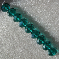 CR9009 - Crystal rondelles 10x14mm emerald green