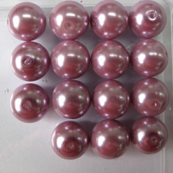 PL1411 -14mm dusky lilac pink glass pearls