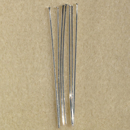 "F4030S - 2"" headpin silver colour. Pack of 50"