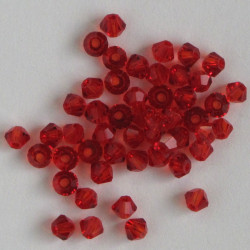 CR3312 - 3mm Crystal Bicones, Red, Pack of 50.
