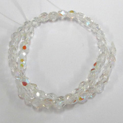 FP3001 - 3mm clear AB fire polished beads. pack of 50