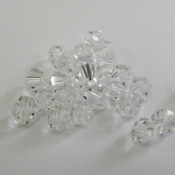 CR6601 - Clear 6mm crystal bicones. Pack of 25