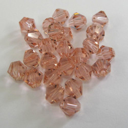 CR6636 - 6mm crystal bicone, rose pink. Pack of 25