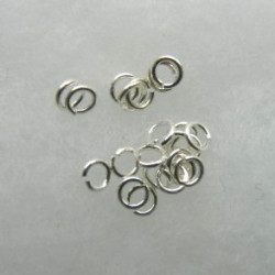 F4268S - 3mm Jump Rings, Silver Colour.