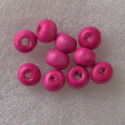 Pink wooden beads